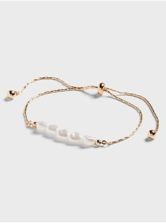 Baroque Pearl Pull Through Bracelet