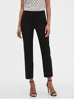 Curvy Avery Black Tailored Ankle Pant