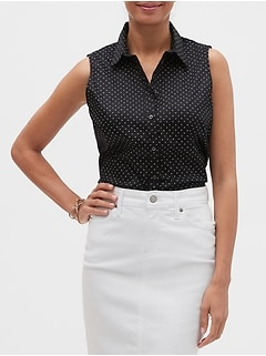 Geo Print Tailored Shirt