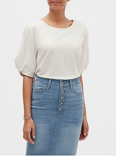 Twist-Sleeve Top