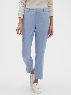 Avery Chambray Tailored Ankle Pant