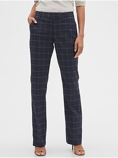 Washable Curvy Logan Glenplaid Suit Pant