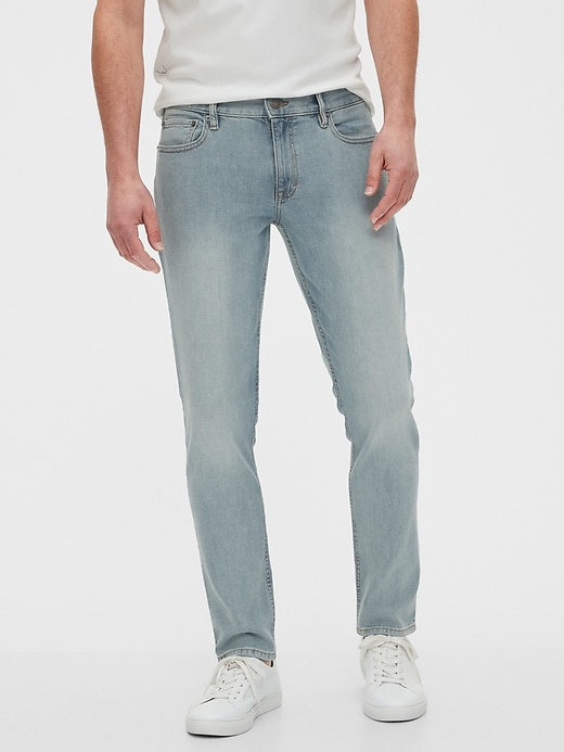 Banana Republic Men's Skinny-Fit Stretch Light Wash Everyday Jean