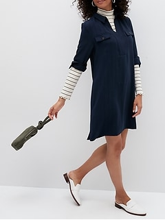 Petite Utility Shift Dress