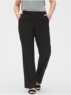 Washable Curvy Logan Classic Black Tailored Trouser