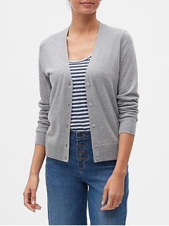 Petite Washable Forever V-Neck Cardigan