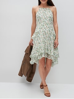 Tiered Ruffle Fit-and-Flare Dress