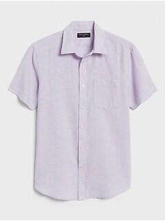 Slim-Fit Linen-Blend Shirt