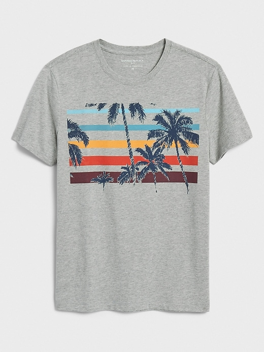 Palm Stripes Graphic T-Shirt