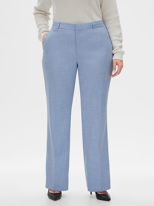 Washable Curvy Logan Chambray Suit Pant
