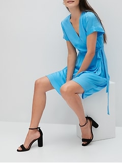 Petite Soft Wrap Dress