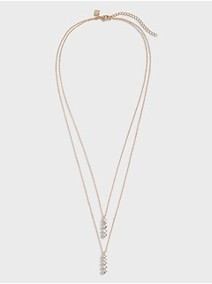 Bezel Bar Layered Necklace