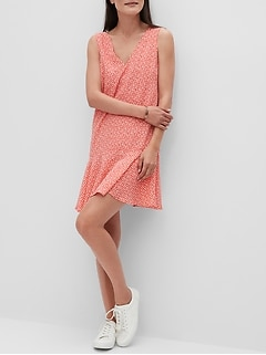 Petite Drop-Hem Shift Dress