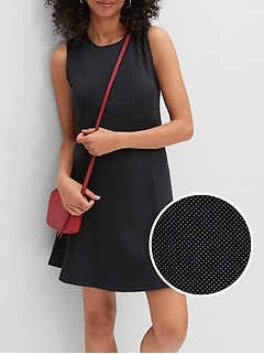 Dot Knit Sheath Dress
