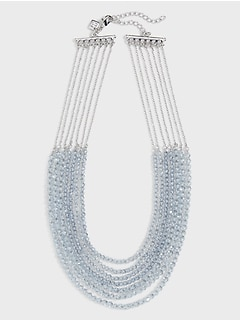 Multi Beaded Rondelle Necklace