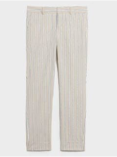 Avery Striped Tailored Ankle Pant