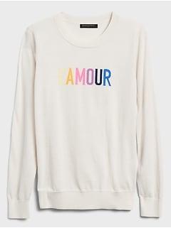 L'Amour Intarsia Crew-Neck Sweater
