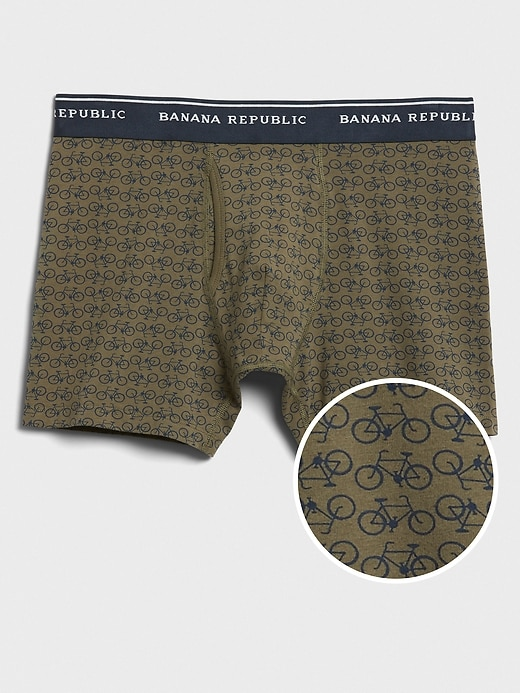 Bicycle Print Organic Cotton Boxer Briefs