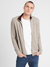 Deals on Banana Republic Factory Brushed Full Zip Jacket