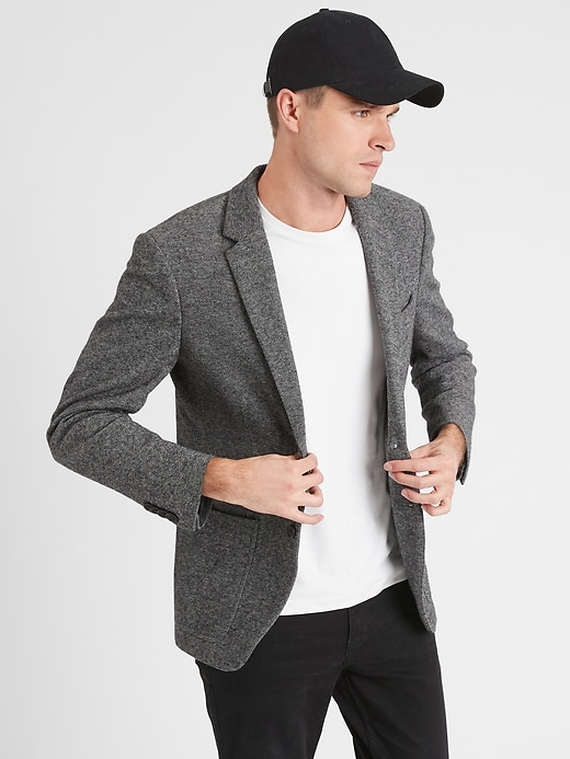 Banana Republic Factory Mens Slim-Fit Marled Blazer