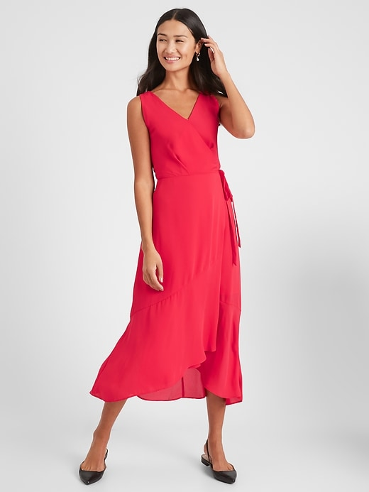 Banana Republic Women's Wrap Midi Dress