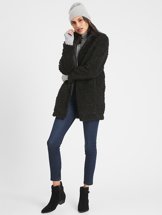Banana Republic Factory Women's Teddy Sherpa Jacket