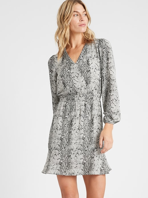 Flounce Fit-and-Flare Dress