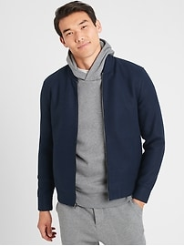 Deals on Banana Republic Factory Mens Moleskin Bomber Jacket