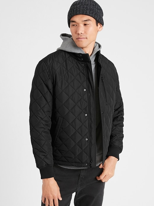 Banana Republic Factory Men's Water Resistant Quilted Puffer Jacket
