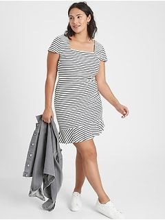 Knit Striped Sheath Dress