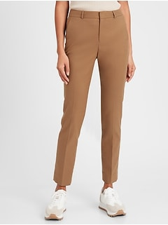 Washable Ryan High-Rise Camel Suit Pant
