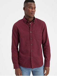Slim-Fit Organic Cotton Untucked Oxford Shirt