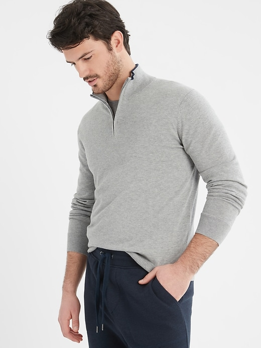 Banana Republic Factory Men's Mock-Neck Pullover Sweater