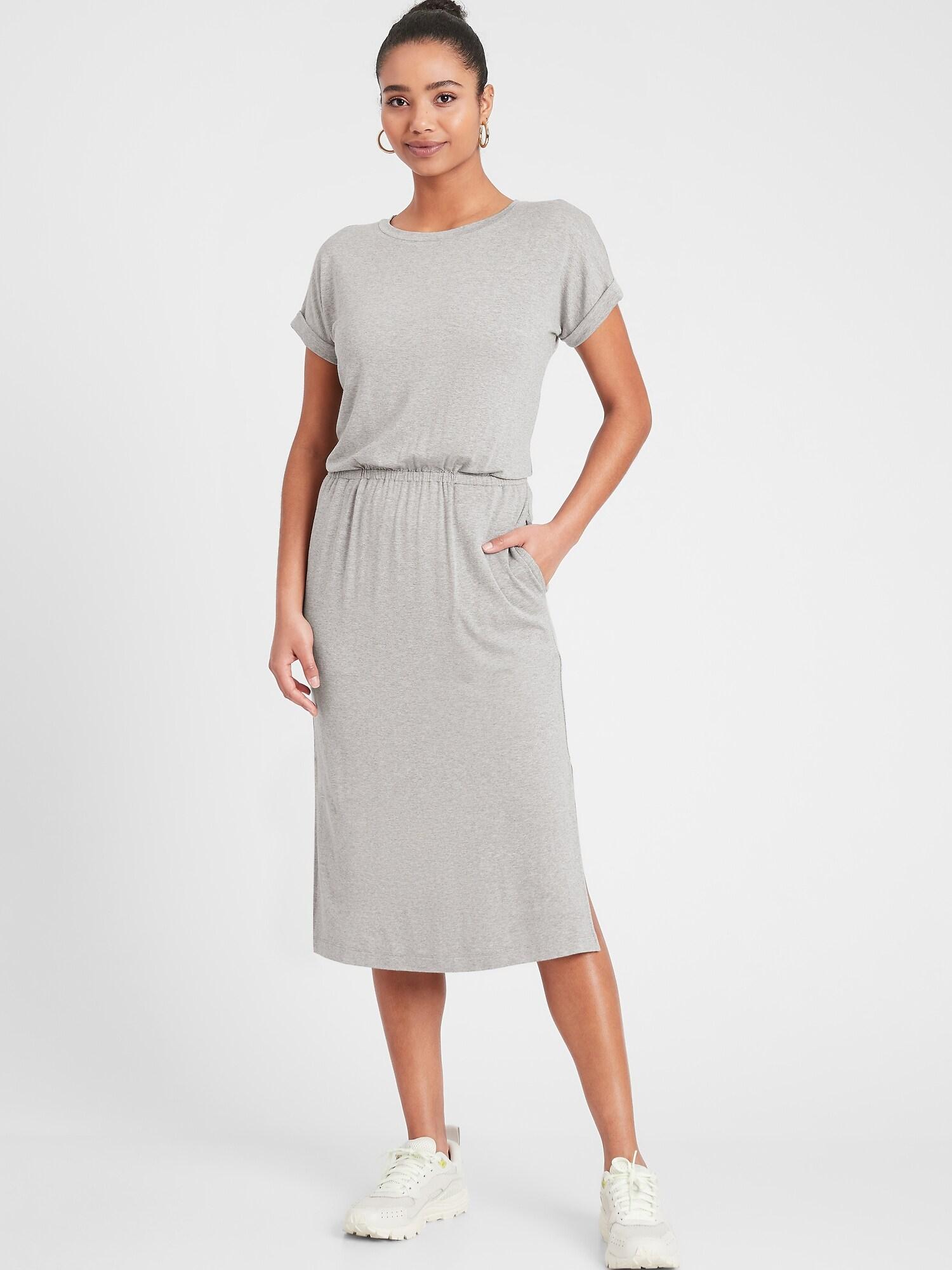 Knit Midi T-Shirt Dress