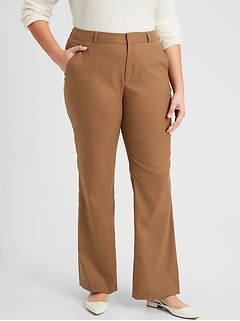 Washable Curvy Logan Camel Suit Pant