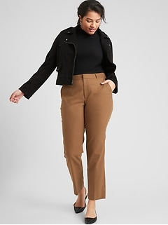 Washable Curvy Ryan Camel Suit Pant