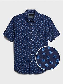Short Sleeve Slim-Fit Organic Cotton Shirt