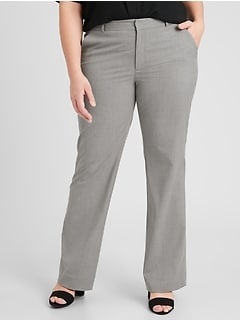 Curvy Logan Light Grey Tailored Trouser
