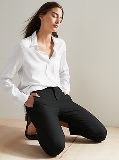 Washable Avery Classic Black Suit Pant