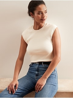 Ribbed Sweater T-Shirt