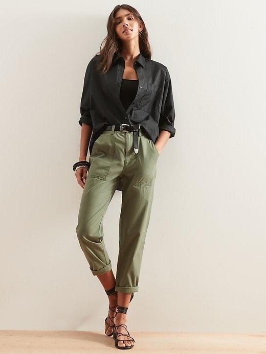 Oversized Button-Down Shirt